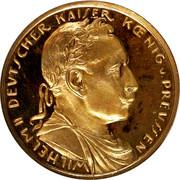 20 Mark - Wilhelm II (Copper Pattern) – obverse
