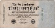 500 Mark (Reichsbanknote; 1922 2nd Issue) – obverse