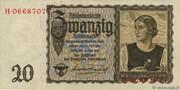 20 Reichsmark (Reichsbanknote) – obverse