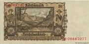 20 Reichsmark (Reichsbanknote) – reverse