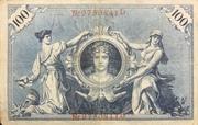100 Mark (Reichsbanknote; red seal) – reverse