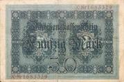 50 Mark (Darlehenskassenschein) – reverse