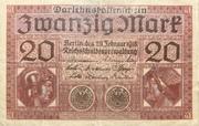 20 Mark (Darlehnskassenschein) – obverse