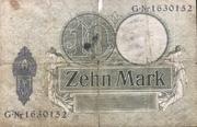 10 Mark (Reichskassenschein) – reverse
