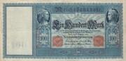 100 Mark (Reichsbanknote; red seals) – obverse