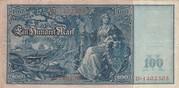 100 Mark (Reichsbanknote; red seals) – reverse