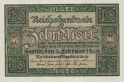 10 Mark (Reichsbanknote) – obverse