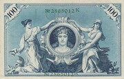 100 Mark (Reichsbanknote; green seal) – reverse