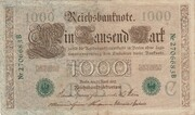 1000 Mark (Reichsbanknote; green seal) – obverse