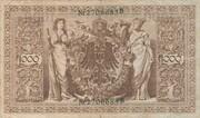 1000 Mark (Reichsbanknote; green seal) – reverse