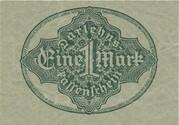 1 Mark (Darlehnskassenschein) – reverse