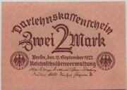 2 Mark (Darlehnskassenschein) – obverse