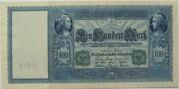 100 Mark (Reichsbanknote; green seals) – obverse