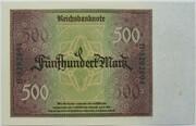 500 Mark (Reichsbanknote) – reverse