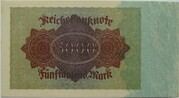 5000 Mark (Reichsbanknote) – reverse