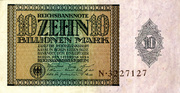 10,000,000,000,000 Mark (Reichbanknote) -  obverse