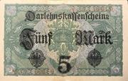 5 Mark (Darlehnskassenschein) – reverse
