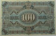 100 Mark (Sächsische Bank) – reverse