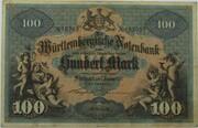 100 Mark (Württembergische Notenbank) – obverse