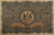 100 Mark (Württembergische Notenbank) – reverse
