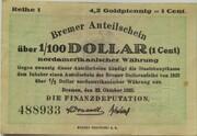 4.2 Goldpfennig / 1 US-Cent (Bremen) – obverse