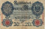 20 Mark (Reichsbanknote) – obverse