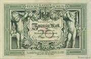 20 Mark (Reichskassenschein) – obverse