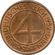 4 Reichspfennig – reverse