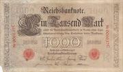 1000 Mark (Reichsbanknote; red seal) – obverse