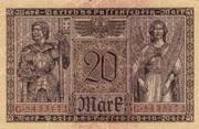 20 Mark (Darlehnskassenschein) – reverse