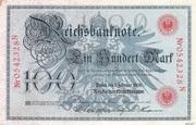 100 Mark (Reichsbanknote; red seal) – obverse