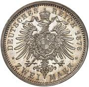 2 Mark - Wilhelm I (Pattern) – reverse