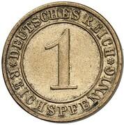 1 Reichspfennig (Pattern) – reverse