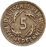 5 Reichspfennig (Pattern) – reverse