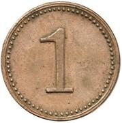 1 Pfennig - Wilhelm I (Pattern) – reverse