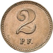 2 Pfennig - Wilhelm I (Pattern) – reverse