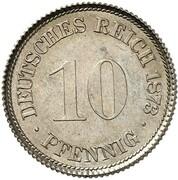 10 Pfennig - Wilhelm I (Pattern) – reverse