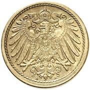 5 Pfennig - Wilhelm II (type 2 - small shield - Pattern) – obverse