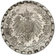 50 Pfennig - Wilhelm II (type 2 - small shield - Pattern) -  obverse
