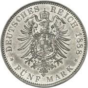 5 Mark - Friedrich III & Wilhelm II  (Pattern) – obverse