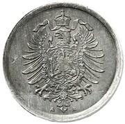 1 Pfennig - Wilhelm II (type 1 - large shield - Pattern) – obverse