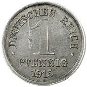 1 Pfennig - Wilhelm II (type 1 - large shield - Pattern) – reverse