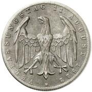 3 Mark (Weimar Constitution - Pattern) – obverse