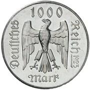 1000 Mark (Friedrich Schiller - Pattern) – obverse