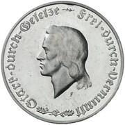 1000 Mark (Friedrich Schiller - Pattern) – reverse