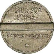 Telephone token - Deutsche Reichspost – reverse