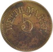 5 Pfennig (Werth-Marke; Brass; 17.5 mm) – obverse