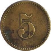 5 Pfennig (Werth-Marke; Brass; 17.5 mm) – reverse