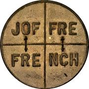 Propaganda token - Joffre / French – obverse