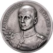 Medal - Flying ace Oswald Bölcke -  obverse
